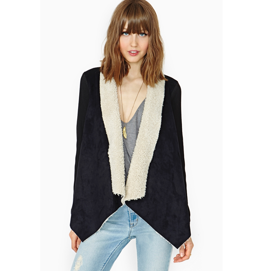 Regular Solid Turn-down Collar Casual Single Button Regular Vests Womens Coats And Jackets Winter 2015 Wool Fur Vest