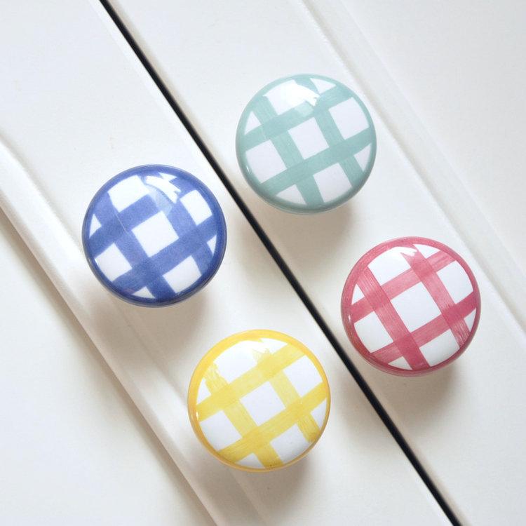 DIA 38mm Ceramic Knobs Bedroom Kitchen Door Cabinet Cupboard Knob Pull Drawers Handle Kids Dresser Pulls Closet Knobs<br><br>Aliexpress