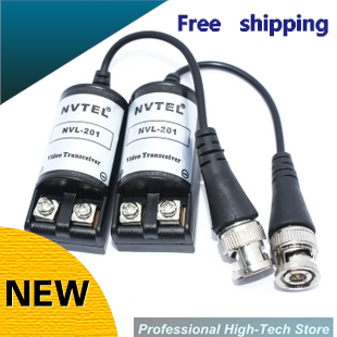 Free Shipping Twisted BNC CCTV Video Balun passive Transceiver UTP Balun BNC Cat5 CCTV UTP Video Balun up to 3000 ft Range