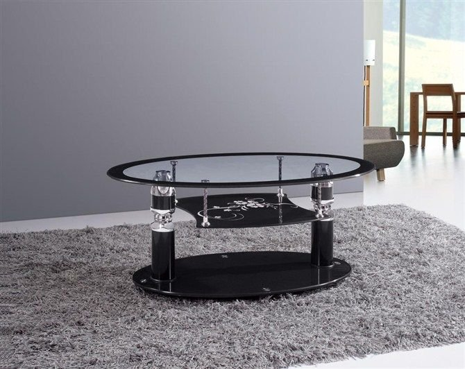 Tea table glass coffee table high end fashion tempered for High end coffee table