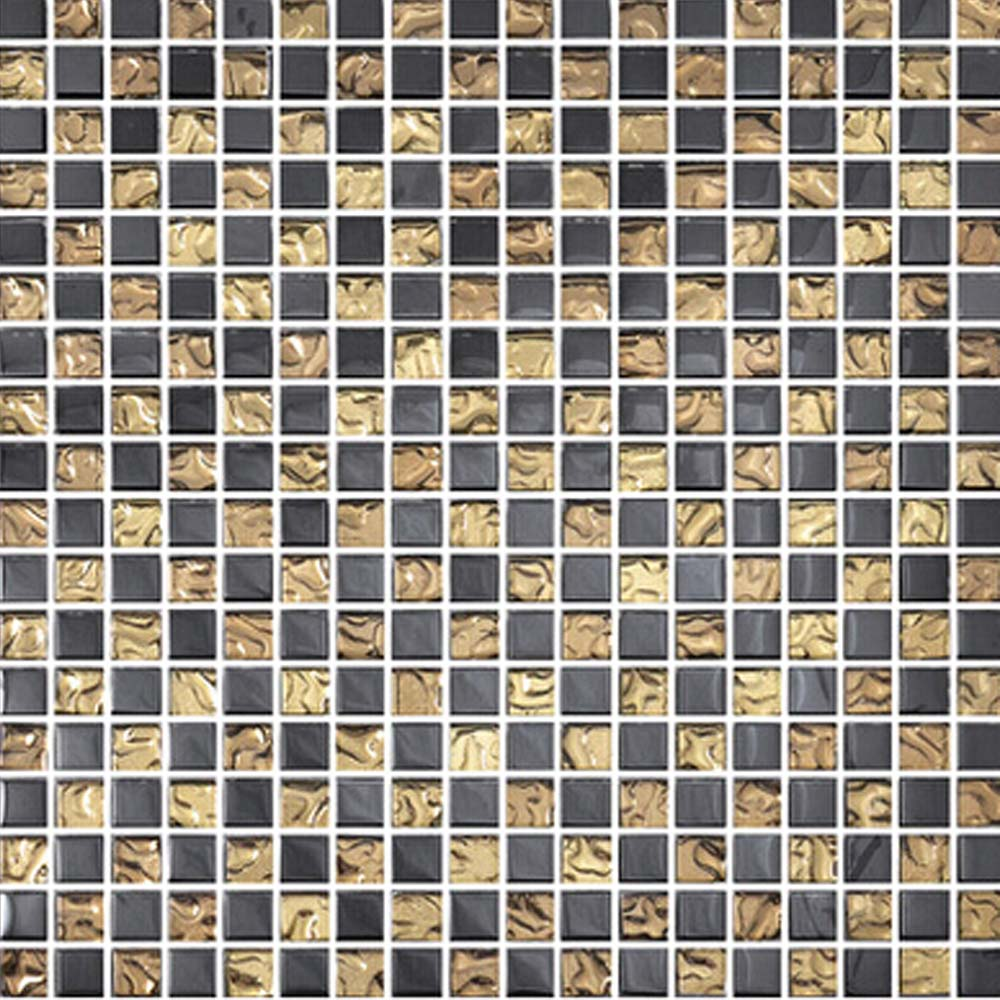 Online kopen Wholesale black and gold glass tile backsplash uit ...