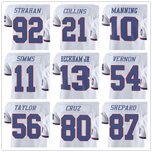 2016 Men's Sterling Shepard Odell Beckham Jr Victor Cruz Landon Collins Lawrence Taylor Eli Manning rush color white(China (Mainland))