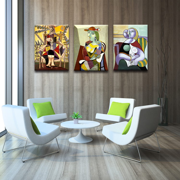 abstract figure canvas frameless painting restaurant wall art paintings retro furniture styles oil painting vintage home decor(China (Mainland))