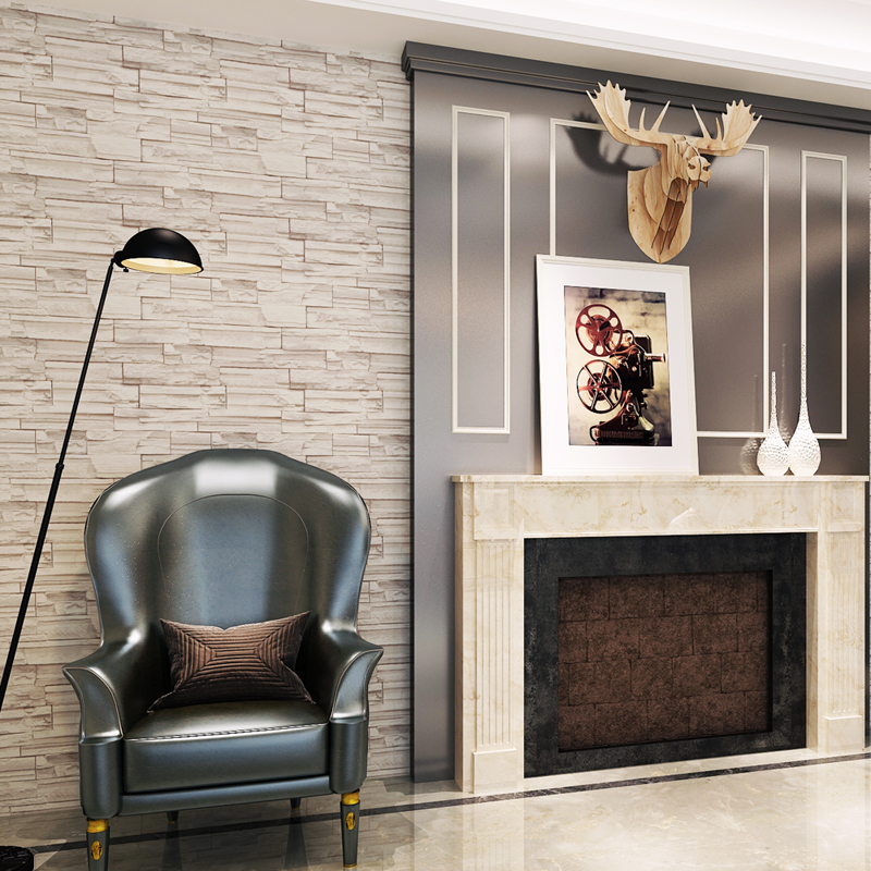 Online get cheap removable wall coverings for Cheap brick wallpaper