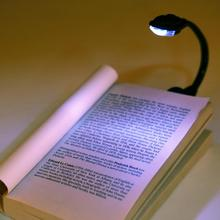 1 pcs White LED Book Reading Light Lamp Flexible Clip-On Bright Book Light Laptop Clip On Book Lights For Reading(China (Mainland))