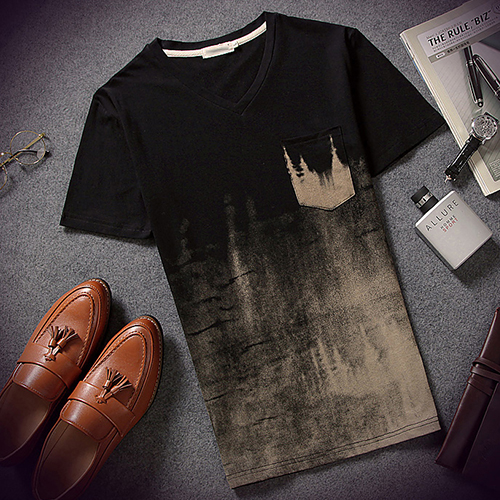Ink Printed T Shirt Men Fashion Summer Short Sleeve O Neck Male Vintage Fitness Casual Hip Hop T-shirt Clothes M-XXL Camisas(China (Mainland))