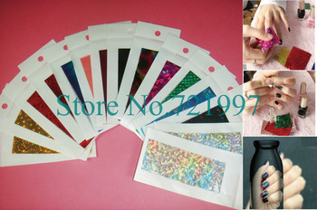 50pcs(=50designs) x Brand New 2013 Hot Selling Transfer Nail Foil Stickers for Nail Art Decorations-Free Shipping Wholesale