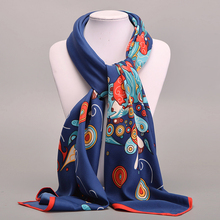 Large Square Twill Silk Scarf For Women Ladies Spring Summer Scarves Female Original Brand Shawls And Scarves Wraps 100*100cm(China (Mainland))