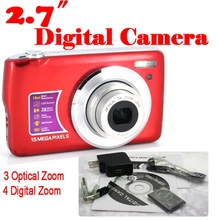 50% shipping fee 5 pieces 15MP digital camera 2.7 inch 3x optical zoom digital cameras(China (Mainland))