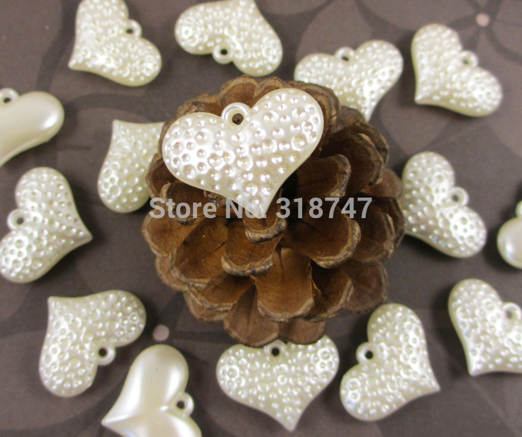 Sale! ABS Bead Heart-shaped Loose beads DIY Jewelry/Home/Wedding Decoration Accessories 12pcs/lot 028038007(China (Mainland))