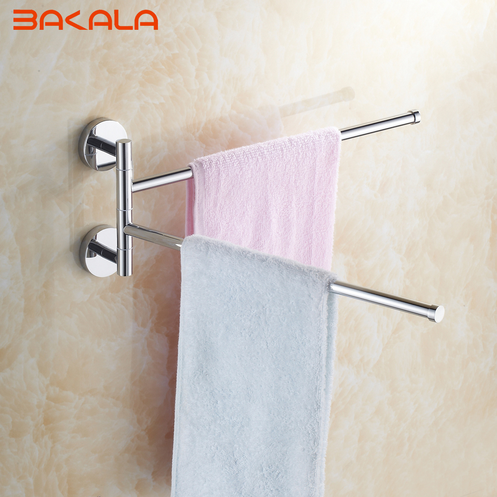 Bakala Wall Mounted Space Aluminum Double Layer Pallet Hook Bathroom Shelf Bathroom Accessories