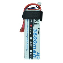 5pcs/lot XXL 11.1V 3600mAh 35C Max 70C 3S RC LiPo Li-Poly Battery For Helicopter Model For Control Remote Toys