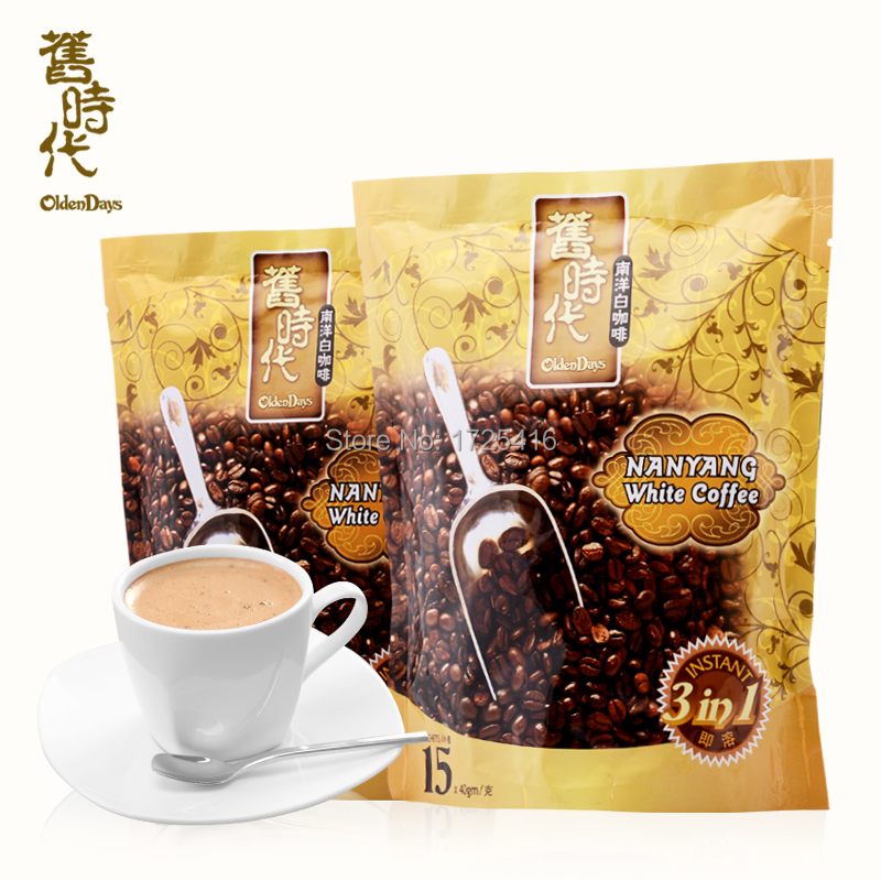 Imported from Malaysia OldenDays old 3 in 1 instant white coffee 1200 g free shipping