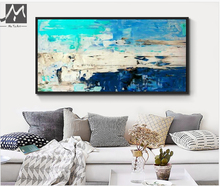 Buy MUYA 2017 fashion home design handpainted moderne abstrait acrylic canvas oil paintings royal blue wall picture for living room for $25.90 in AliExpress store