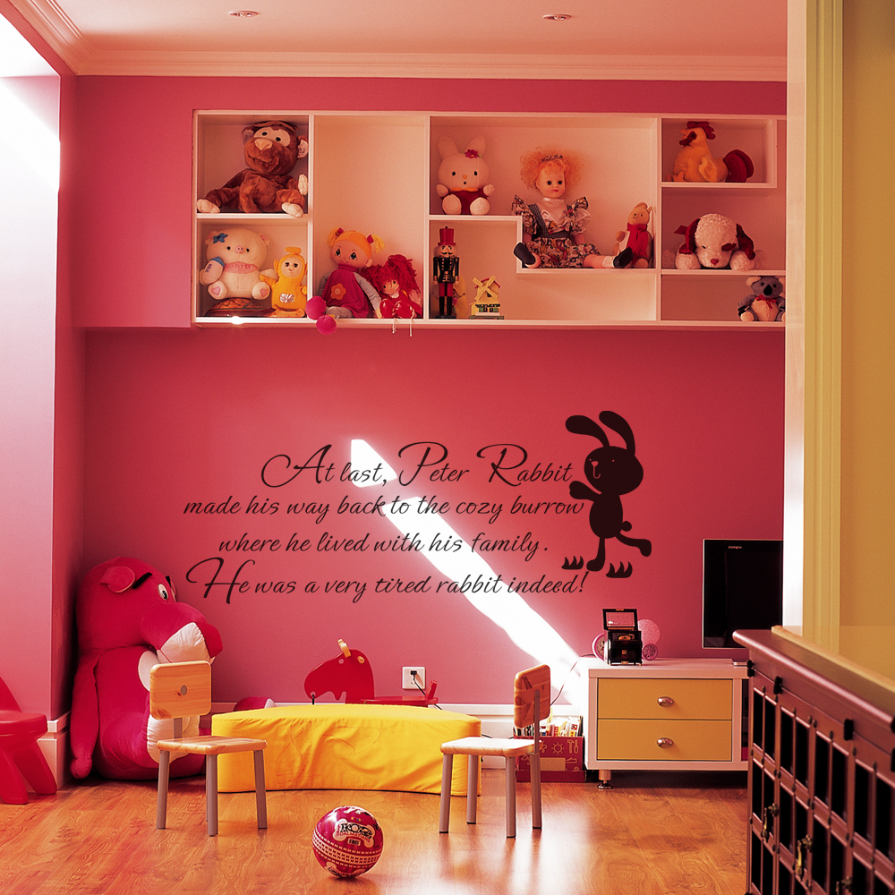 Peter Rabbit Wall Decal Baby Nursery Wall Quote Baby Room