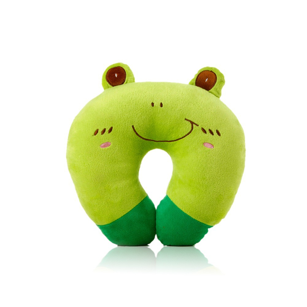 2015 New Hot Sale U-shaped Plush Pillow Travel Pillow Cartoon Animal style Car Headrest 8 styles(China (Mainland))