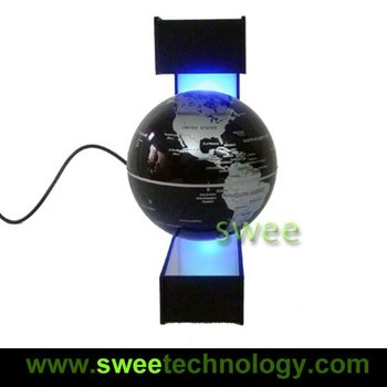 Free Shipping New Arrival: E Shape Levitation Classic Floating Globe... Cool Little Gadget for Your Office! Christmas Gifts
