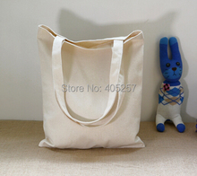 Beige Black blank canvas bag with handle cotton tote bag for DIY calico bag blank tote bag(China (Mainland))