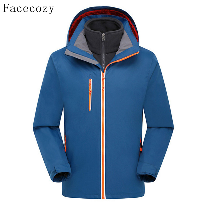 Facecozy Men's Spring Outdoor Quick Dry Hiking Softshell Jacket Breathable Front Zipper Hooded Windproof Fishing Coat(China (Mainland))