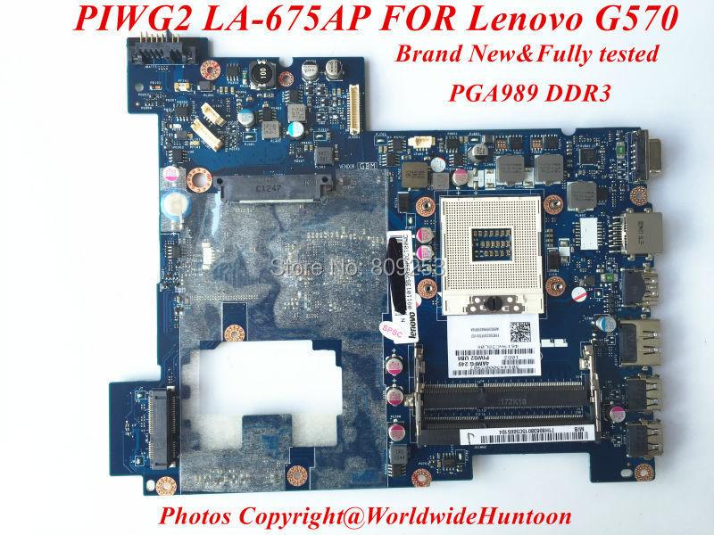 Original Brand new laptop motherboard for Lenovo G570 Rev1.0 PIWG2 LA-675AP HM65 PGA989 DDR3 Fully tested&Free shipping(China (Mainland))