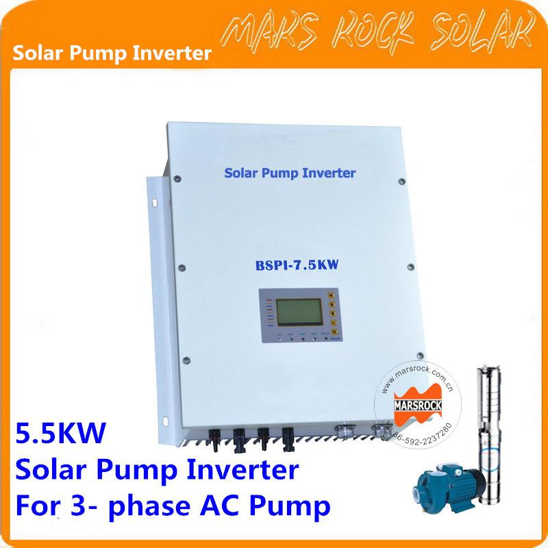 Solar Pump Inverter Professional Design 3-Phase AC Pump Inverter 5.5KW Customized Inverter(China (Mainland))