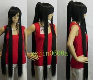 2012 New Black long cosplay Split -Type full wig