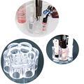 New Arrival Clarity Acrylic Flower Cosmetic and Makeup Organizer Eye Pen Cosmetic Lipsticks Holder Box