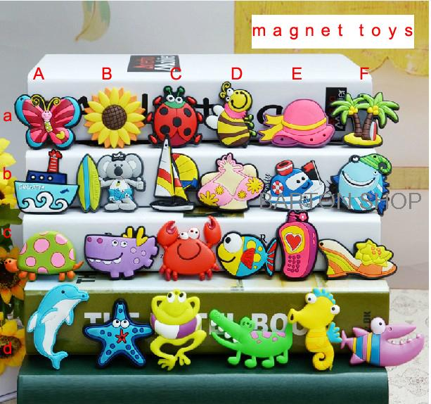 Kids Baby plastic Cartoon Fridge Magnet Child Educational Learning Toy 24 pieces available 10pcs/lot free shipping GXFM006(China (Mainland))