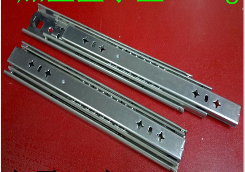 Widening heavy rail drawer drawer slide rail track ball track cabinet slide three 12-inch
