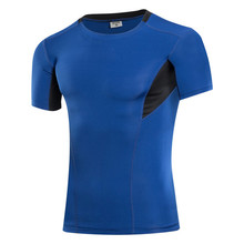 Buy Fitness Mens T Shirts Short Sleeve Compression Tee Shirts Skinny Breathable Sweatshirts Workout Summer Tops for $9.71 in AliExpress store