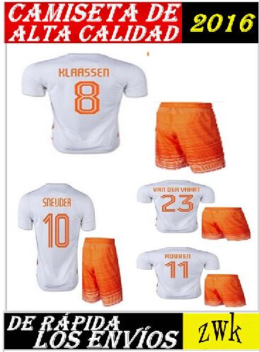 Netherlands Jersey 2016 Holland football shirt ROBBEN V.PERSIE SNEIJDER Jersey 15 16 Netherlands Jersey(China (Mainland))