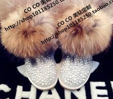 2017 de Alta Calidad de Las Mujeres Botas Pisos Rhinestone Botas de Nieve Caliente Zapatos de Mujer Lindos Peludos Botas Mujer Motocicleta Botas de Señora Shoes(China (Mainland))