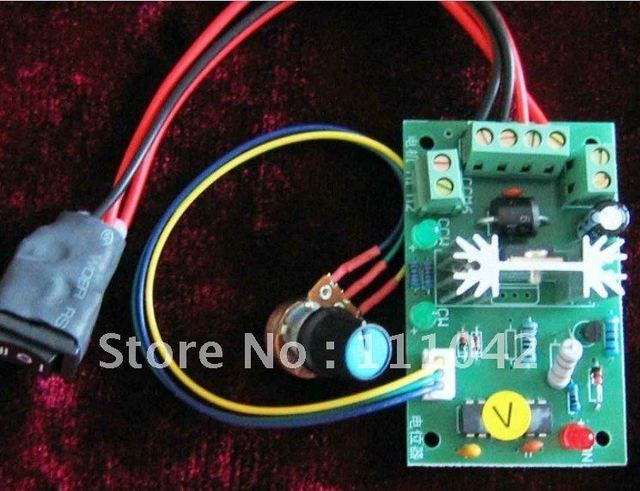 6V 12V 24V 150W DC motor speed control reversing switch, low voltage speed control board free shipping