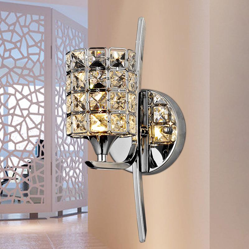 modern light switch plate raised K9 Crystal Wall Arts bedside bedroom living room wall light hallway mirror led(China (Mainland))