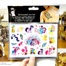 My Little Pony Friends Temporary Body Art Flash Tattoo Sticker 10*17cm Waterproof Henna Fake Tao Car Styling Wall Tattoo Sticker