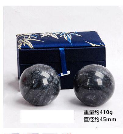 45mm Jade Stone Hand Ball Natural Stone Healthy Care Massaging Stone Healing Sphere Ball SPA Tools Exercise Health Handball gift