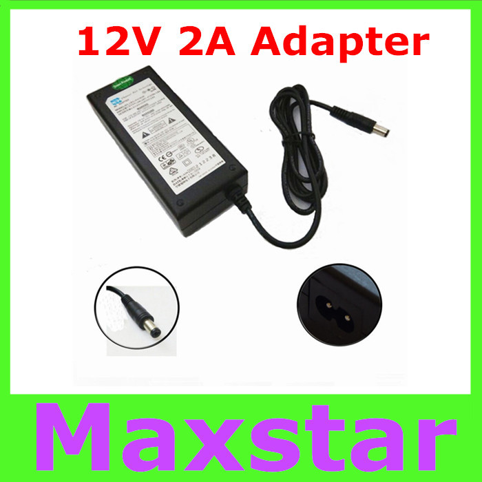 1pc AC Adapter Input 100V-240V Power Adapter output DC 12V 2A power supply transformer adaptor free shipping post(China (Mainland))
