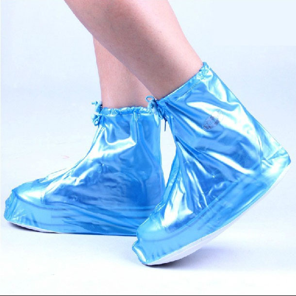 2015 New Shoes Covers Women Solid Short Waterproof rain Unisex Shoes Accessories Polyester Blue & Pink All Year(China (Mainland))