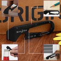 2015 High Quality NiteIze Stainless Steel Multi Functional Black Key Tool Bottle Opener/Wrench For Hiking Sports Outdoor