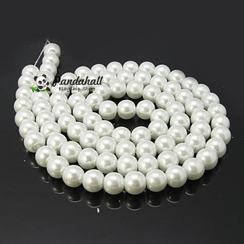 140pcs/strand 6mm Glass Imitation faux Pearl Beads Loose Spacer Beads For DIY Jewelry Craft Making accessories Round perles(China (Mainland))