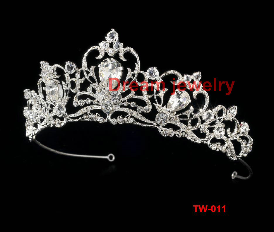Fashion Crystal Tiara Crown Hair Accessories For Wedding Quinceanera Hair Chain Pageant Hair wholesale pageant crowns and tiaras(China (Mainland))
