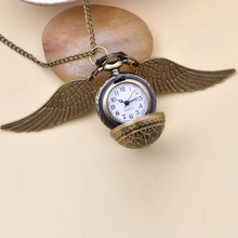 Buy Fashion Jewelry Vintage Charm HP Snitch Wings Quartz Pocket Watch Necklace Men Women for $2.23 in AliExpress store