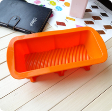 Rectangle Large gear toast cake mould silica gel cake mould bread mold(China (Mainland))