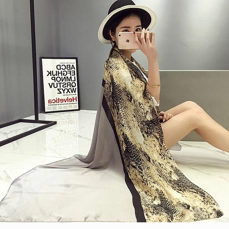 New Design Cobra Silk Women Scarf Sun-proof Shawl Color Patchwork Lady Scarves Echarpe Luxurious Wrap SC2834(China (Mainland))
