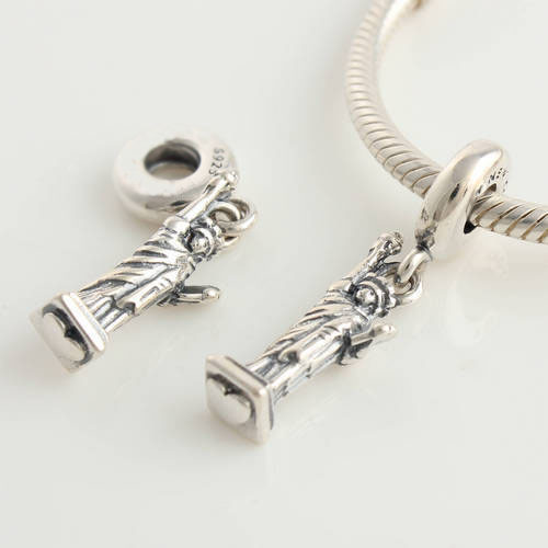 Подходит подвески-талисманы браслет 925 чистое серебро бусины свободы узор европейский подвески своими руками ювелирные изделия выводы