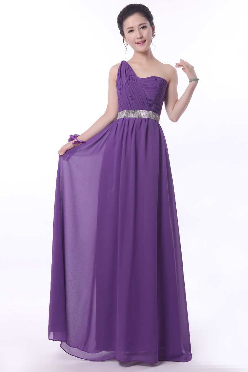 Long Purple Chiffon Dress | Dress images