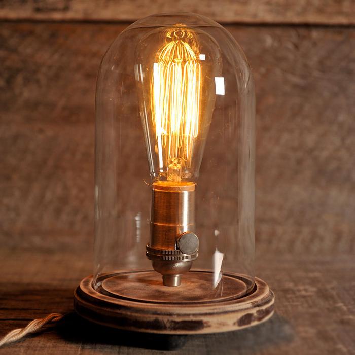 Loft Vintage Nostalgic Lustre Wood Edison Table Lamps Industrial Personality Bar Children Bedside Reading Home Decor Lighting - YH Manufacturer store