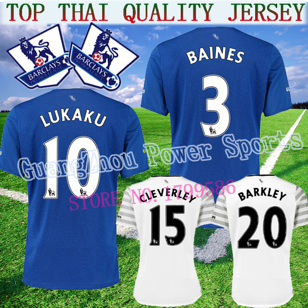 New Evertones 15 16 soccer Jersey LUKAKU Home BAINES 2015 2016 Away white Football T Shirts MIRALLAS BARKLEY ETO O(China (Mainland))