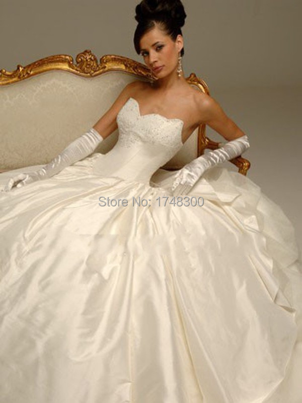 sweetheart ball gown corset bodice lace up long wedding dresses