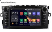 Toyota Auris Corolla hatchback  Quad Core HD 1024*600 android 4.4 car dvd gps navi Wifi 3G Radio Stereo obd mirrorlink